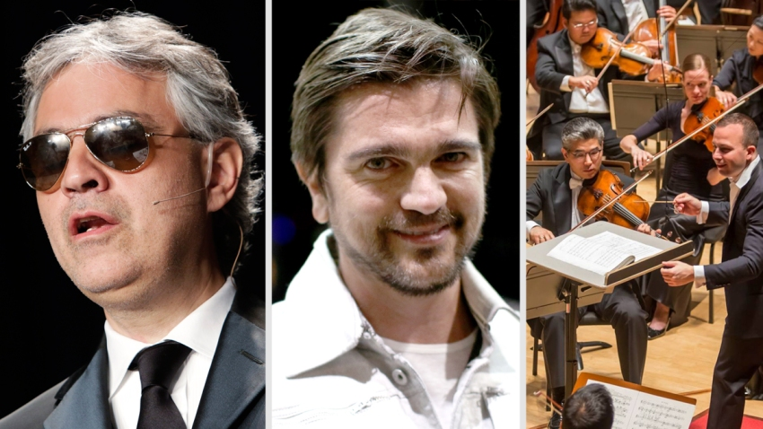 Bocelli Juanes Orchestra World Meeting Pope