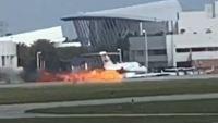 En video: captan espectacular aterrizaje de emergencia en Florida