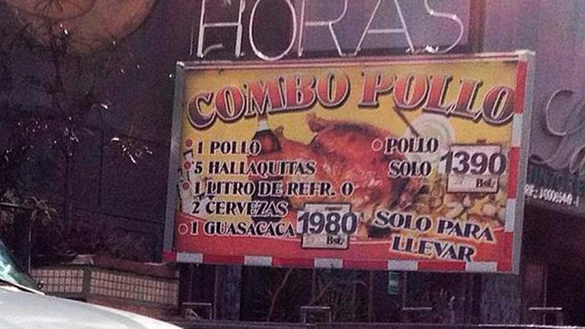 indice del pollo en brasa venezuela