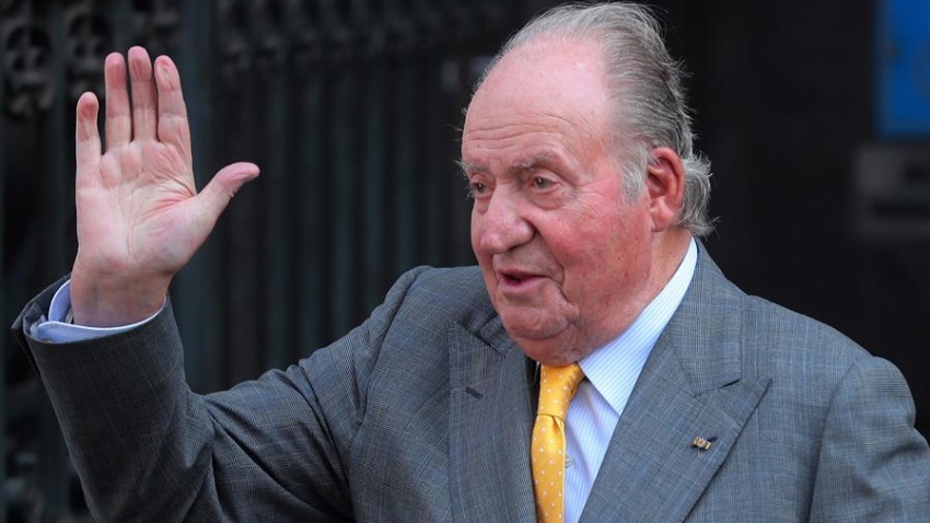Fotografía de archivo del 10/03/2018, del rey emérito Juan Carlos en Santiago (Chile)