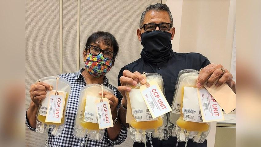 Joe Posada y su esposa donan plasma