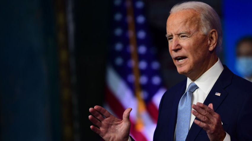 President-elect Joe Biden introduces key foreign policy and national security nominees and appointments at the Queen Theatre on November 24, 2020 in Wilmington, Delaware.