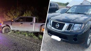 Camionetas robadas en San Antonio