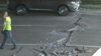 Gran congestionamiento vehicular y una reparación de emergencia dejaron las  repentinas fallas en la carretera I-229.