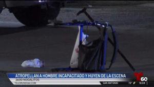 Policía: Atropella a hombre en silla de ruedas y huye