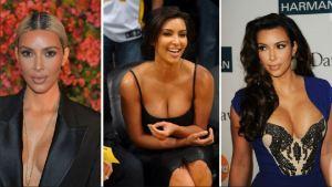 Kim Kardashian y sus escotes: el arte de dejar el brasier en casa