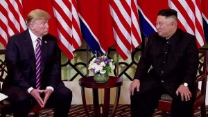 Televisión norcoreana muestra fin de cumbre Trump-Kim