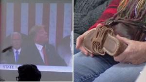 Organizaron evento donde le tiraban zapatazos a Trump