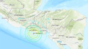 Poderoso terremoto sacude la costa de El Salvador