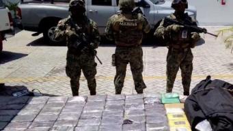 En Tamaulipas aseguran cocaína proveniente de Colombia