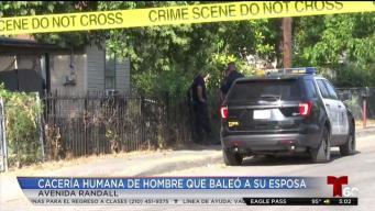 Buscan a sospechoso que baleó a esposa en el rostro y huyó