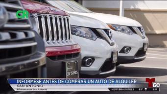 Alerta al consumidor: venta y alquiler de carro