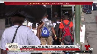 San Antonio recibe a cientos de migrantes todos los días