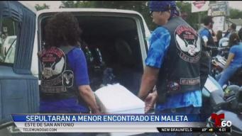 Comunidad sepultará a bebé encontrado en una maleta