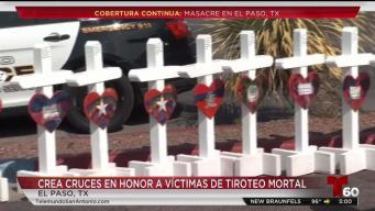 Colocan cruces en memoria de víctimas de El Paso