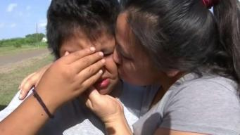 Emotivo reencuentro de madre e hijo tras 47 días