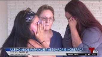 Funeral para madre que fue asesinada e incinerada