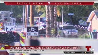 Investigan muertes de cuatro en aparente homicidio-suicidio