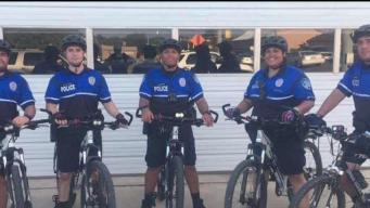 Los oficiales cambian las patrullas por bicicletas