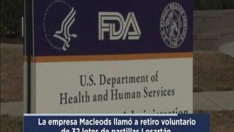 Retiran decenas de lotes de medicina para la presion arterial