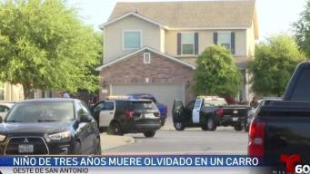 Muere niño de 3 años olvidado adentro de un vehículo
