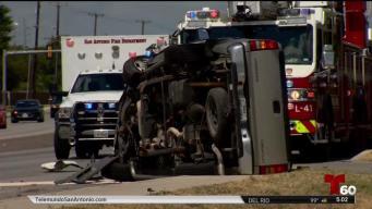SAPD investiga aparatoso accidente al oeste de la ciudad