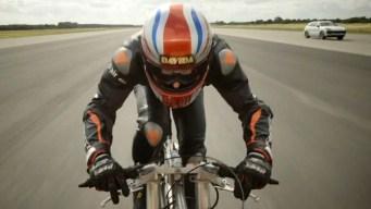 El hombre más rápido en bicicleta: 174 millas por hora