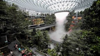 El aeropuerto con la catarata más alta del mundo