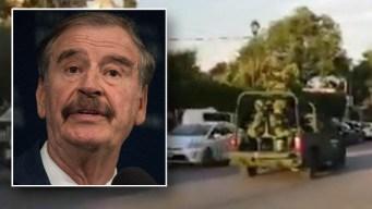 """Expresidente Fox: """"grupo armado pretendió entrar a mi casa"""""""