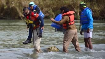 México vigila río Bravo para frenar cruces