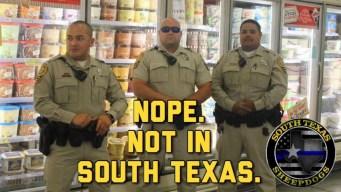 Parodia de oficiales resguardando helados