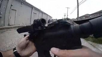 Video: persecución policial a pie y encontronazo a tiros