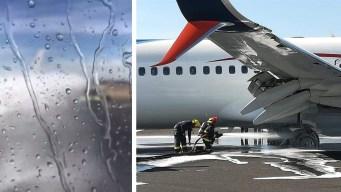 Avión de Aeroméxico hace aterrizaje de infarto