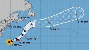 Aviso de huracán en Bermudas por Humberto