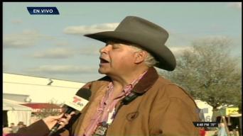 Arlena Amaro entrevista en vivo a voluntario de Rodeo de San Antonio