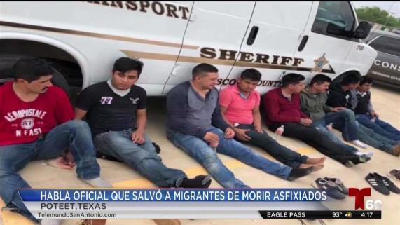 Habla oficial que salvó a 16 inmigrantes