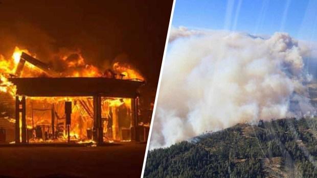 Incendio destruye todo a su paso y deja miles de desplazados en el Condado de Butte
