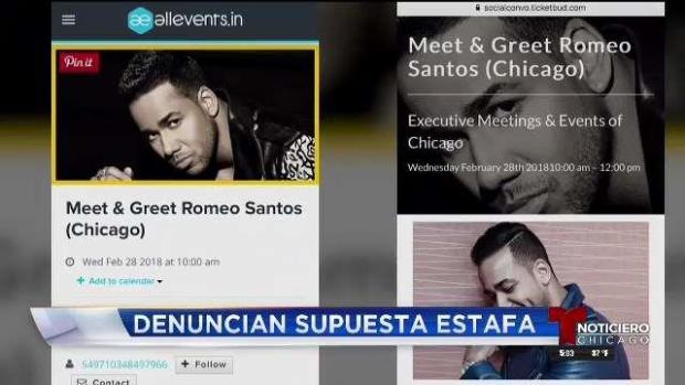 Denuncian supuesta estafa para conocer a Romeo Santos