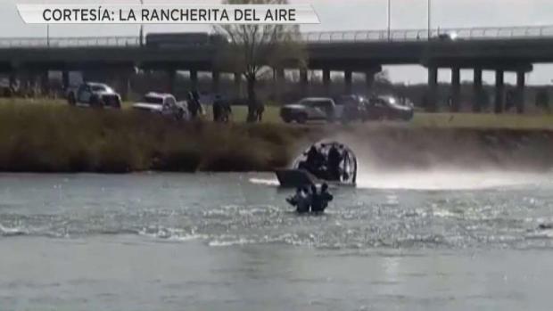 [STRINGER] Rescatan a migrantes del Río Grande cerca de puente internacional