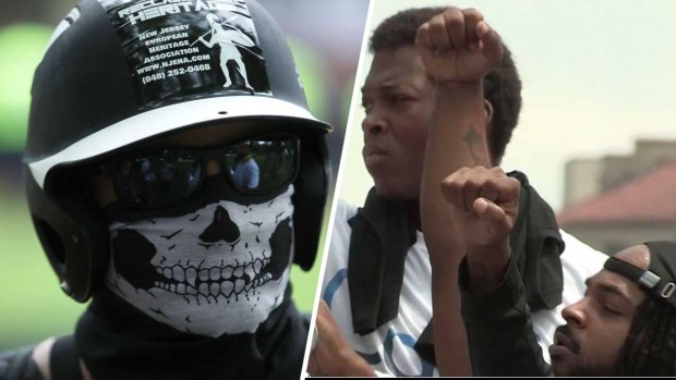 Marea contra el racismo arrincona a los neonazis frente a la Casa Blanca