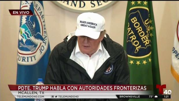 Trump: migrantes cruzan la frontera conduciendo autos