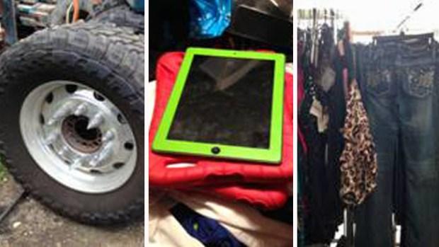 Fotos: Vendían artículos robados en venta de garaje