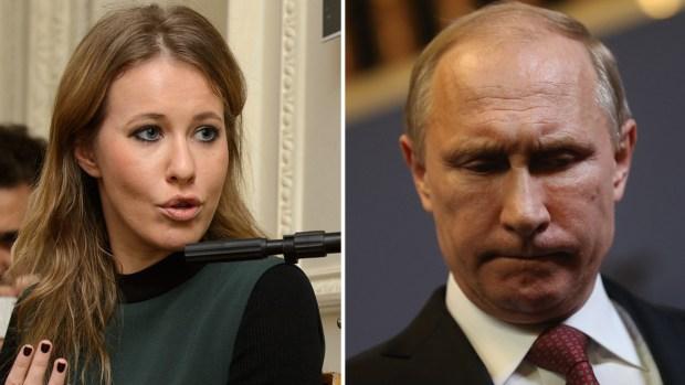La bella candidata que pone nervioso a Putin