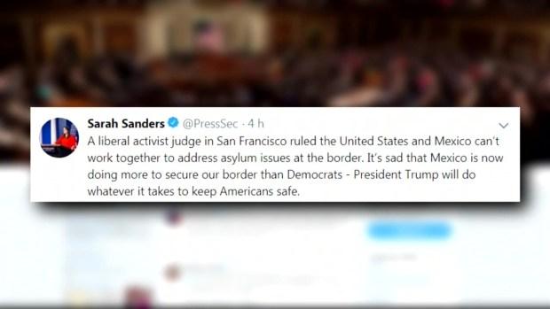 [TLMD - LV] Casa Blanca arremete contra juez que bloqueó su política sobre asilo y México