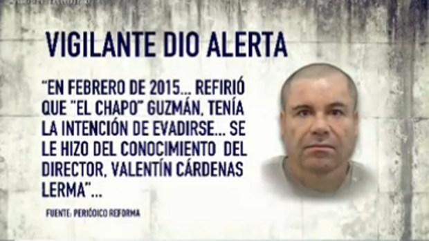 """Reporte: hubo alertas sobre fuga de """"El Chapo"""""""