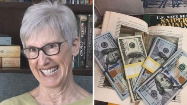 Mujer encuentra $4,000 dentro de un libro viejo