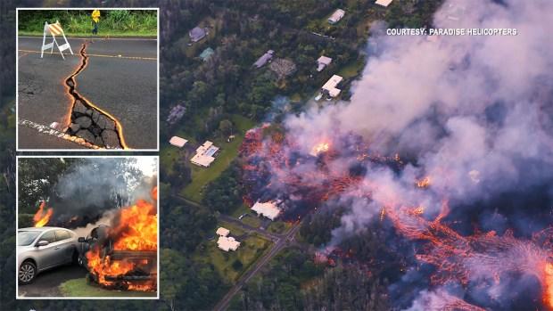 Hawái: volcán ruge y su lava destructora avanza indetenible