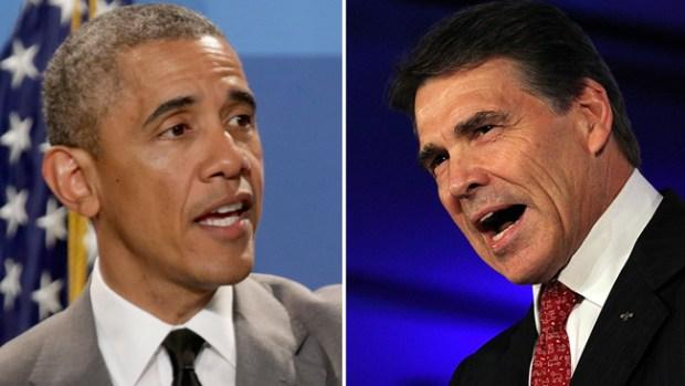 Video: Reunión entre Obama y Perry en Dallas