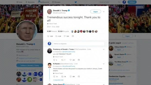 [TLMD - LV] Trump califica de éxito las elecciones legislativas