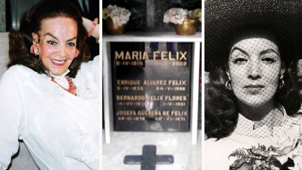 """No dejan descansar en paz a María Félix: ladrones saquean la tumba de """"La Doña"""""""